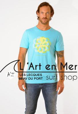 L'Art en Mer Surf Shop Les Lecques Jonsen Island t-shirt-classic-dizzy-turquoise
