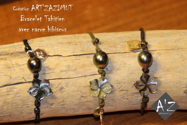 Bracelets Perle de Tahiti Atelier Art'Zazimut Laurence Loustaneau