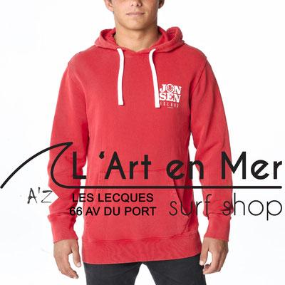 L' Art en Mer Jonsen island 2020 sweatshirt-hooded-gonzo-mercury-red