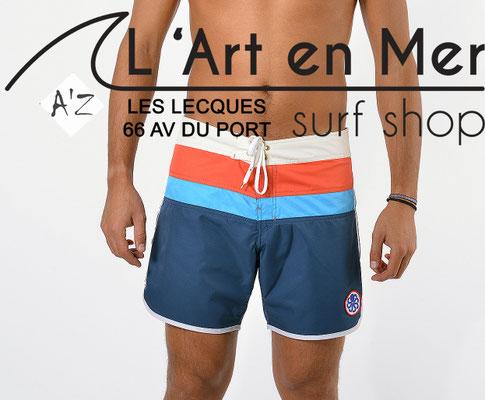 L'Art en Mer Surf Shop Les Lecques Jonsen Island jon-one-belt-stripe-navy-aquacoral