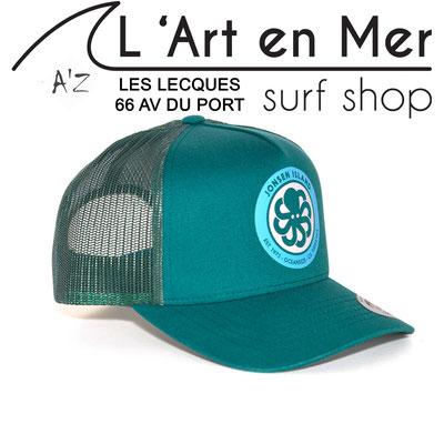 L' Art en Mer Jonsen island casquettes 2020 trucker-hat-logo-all-green