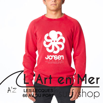 L' Art en Mer Jonsen island 2020 sweatshirt-falco-big-red