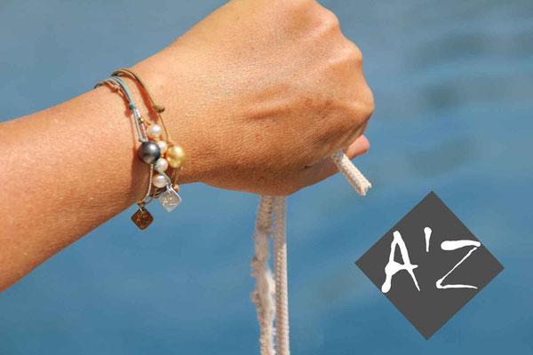 L'art en mer concept store surf shop les lecques bijoux bracelets perles de Tahiti