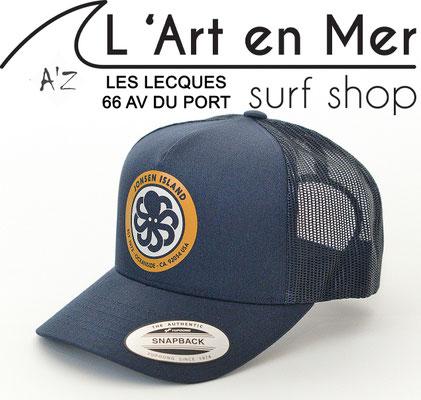 L'Art en Mer Surf Shop Les Lecques casquette Jonsen Island trucker-hat-logo-royal