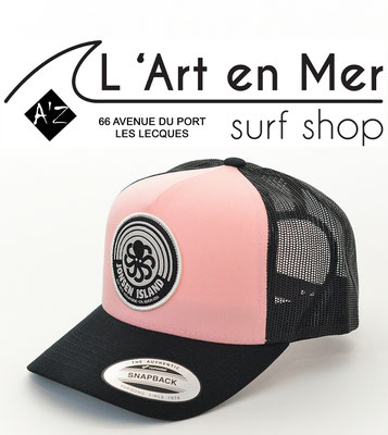 L'Art en Mer surf Shop Les Lecques casquette Jonsen Island trucker-hat-rainbow-pink