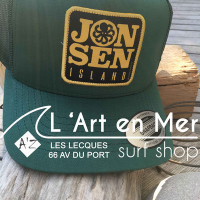 Jonsen island casquettes trucker-hat-p-green