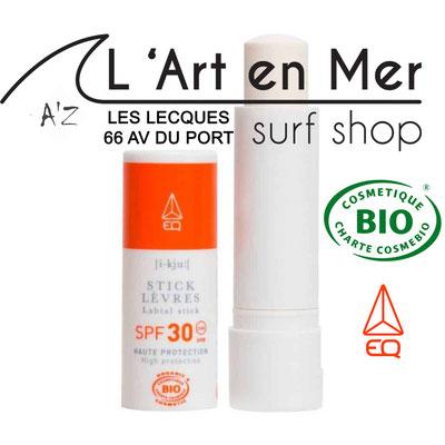 EQ Love cosmétique bio Stick solaire made in France Surf Shop Les Lecques L' Art en Mer Concept Store Saint Cyr sur Mer