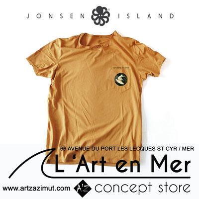 L'art en mer concept store Surf Shop Les Lecques Saint Cyr sur Mer t-shirt pocket T Gerry Jonsen Island