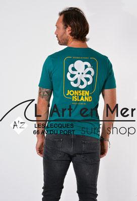 L'Art en Mer Surf Shop Les Lecques Jonsen Island t-shirt-classic-big-label-green