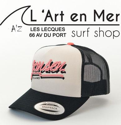 L'Art en Mer Surf Shop Les Lecques casquette Jonsen Island trucker-hat-bubble-black