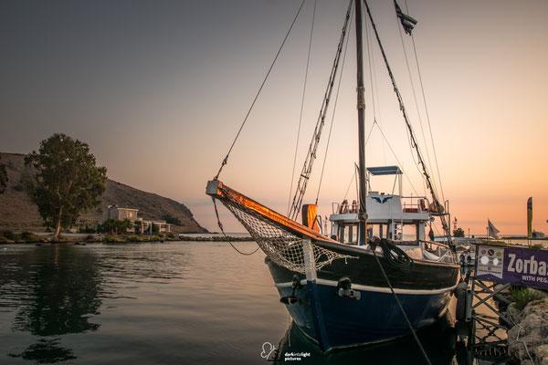 Fischerboot im Hafen von Georgiopoulis