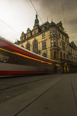 Marktplatz in Halle, Tram