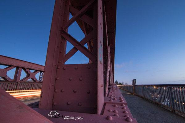 Unterwegs auf der alten Levensauer Hochbrücke