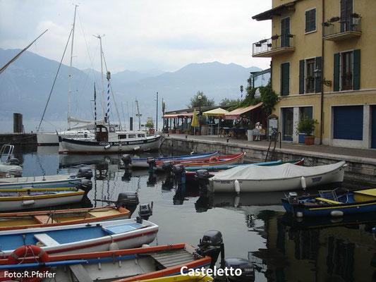 Hinweise für Boote am Gardasee Casteletto