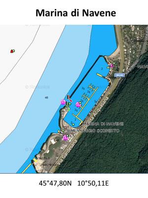 Hafenplan - Hafenübersicht Porto di Navene Gardasee