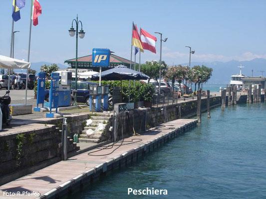 Hinweise für Boote am Gardasee Peschiera