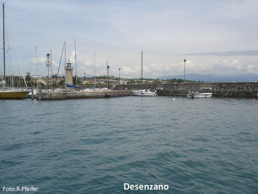 Hinweise für Boote am Gardasee Desenzano