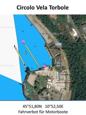 Hafenplan - Hafenübersicht Circolo Vela Torbole