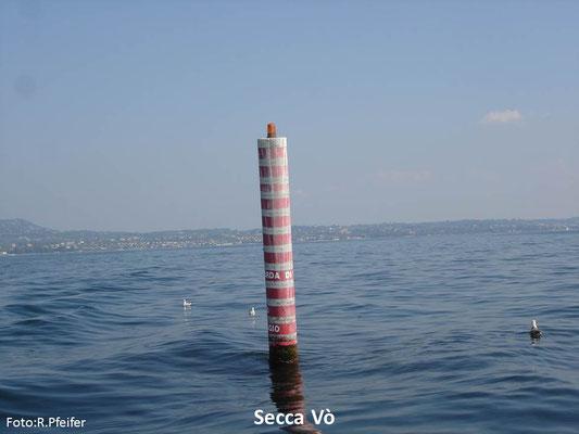 Hinweise für Boote am Gardasee Secca Vò