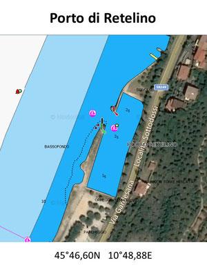Hafenplan - Hafenübersicht Porto di Retelino Gardasee