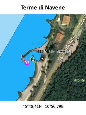 Hafenplan - Hafenübersicht Terme di Vavene Gardasee