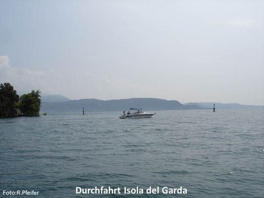 Hinweise für Boote am Gardasee Isola del Garda