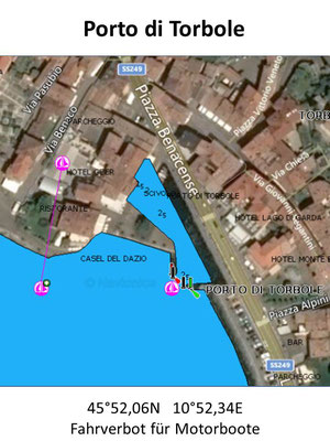 Hafenplan - Hafenübersicht Porto di Torbole Gardasee