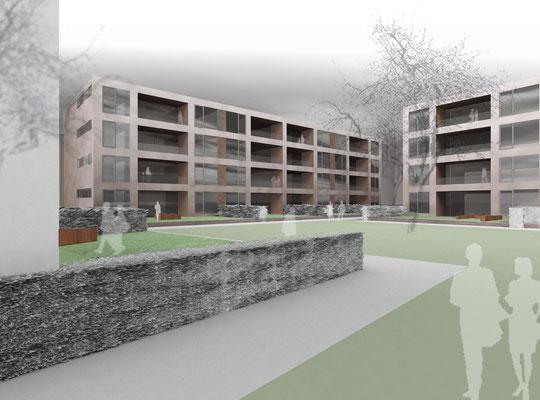 Wettbewerb Wohnhäuser, Lörrach, 1. Preis