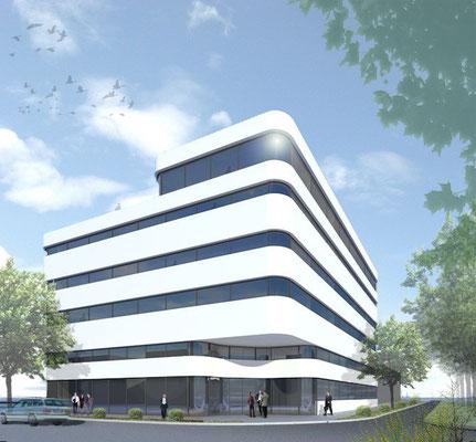 Entwurf Bürogebäude, Freiburg