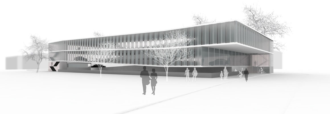 Wettbewerb Parkhaus, Augsburg, engere Wahl