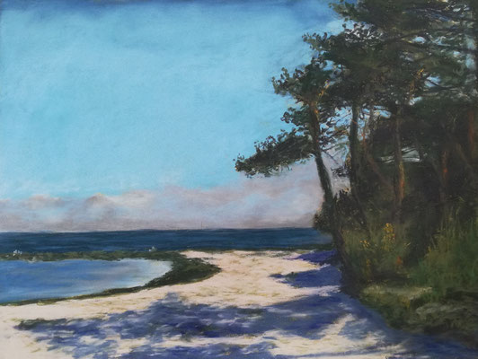 Ostseestrand, Pastell, 30 x 40 cm