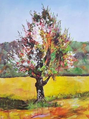 Frühling, Acryl auf Leinwand, 50x70 cm, 2019