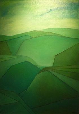 Landschaft in Grün