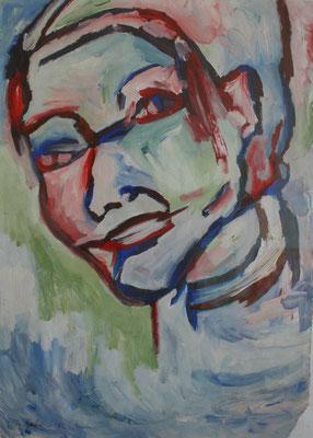 """Face"" 42 x 30 cm, Acryl auf Papier"