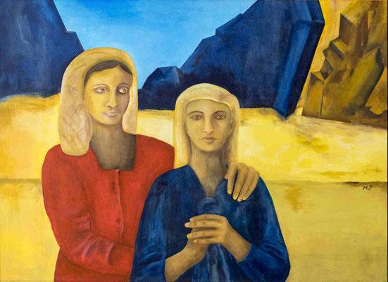 Sinaï, 90 X 65 cm, Acryl auf Holz