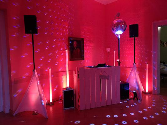DJ bei einer Hochzeit im Kulturgut Ermlitz bei Leipzig
