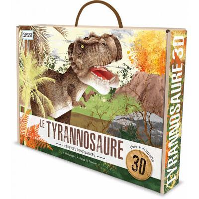 Le Tyrannosaure 3D livre+maquette - 19,90 €