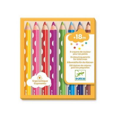 """<FONT size=""""5pt"""">8 crayons de couleur pour les petits - <B>9,00 €</B> </FONT>"""