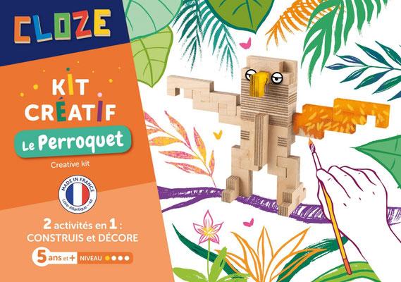 """<FONT size=""""5pt"""">Kit créatif Perroquet - <B>13,50 €</B> </FONT>"""