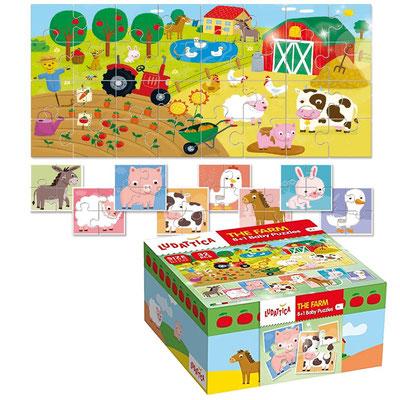 Baby Puzzle la Ferme 32 P ou 8*4P - 13,50 €