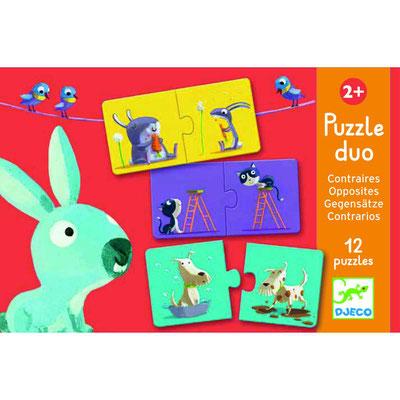 """<FONT size=""""5pt"""">Puzzle duo Contraires - <B>8,50 €</B> </FONT>"""