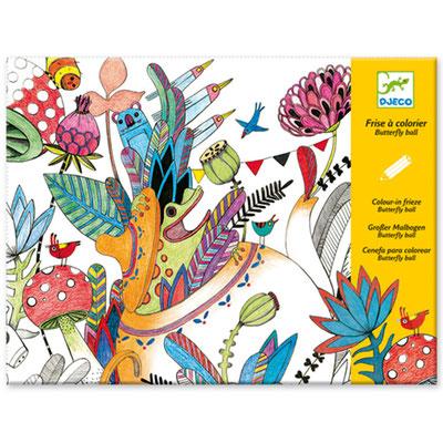 """<FONT size=""""5pt"""">Frise à colorier Butterfly ball - <B>4,20 €</B> </FONT>"""