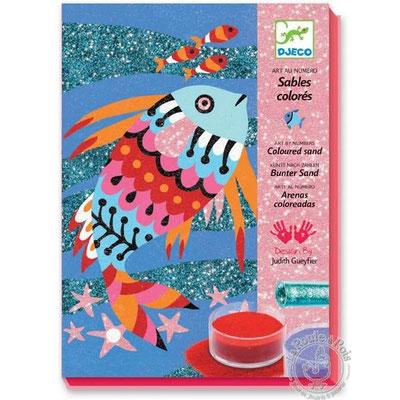 """<FONT size=""""5pt"""">Sables colorés - Arc en ciel de poisson - <B>16,00 €</B> </FONT>"""