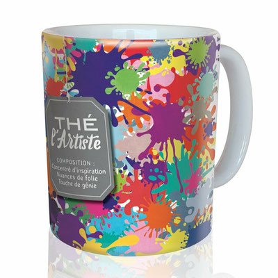 "<FONT size=""5pt"">Mug ""L'Artiste"" - <B>12,00 €</B> </FONT>"