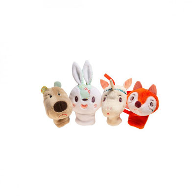"<FONT size=""5pt"">Marionettes à doigts Forêt - <B>21,50 €</B> </FONT>"