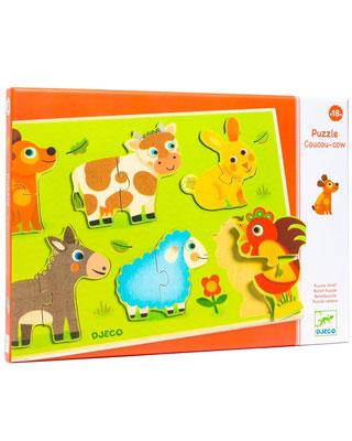 """<FONT size=""""5pt"""">Puzzle Coucou-Cow - <B>13,90 €</B> </FONT>"""