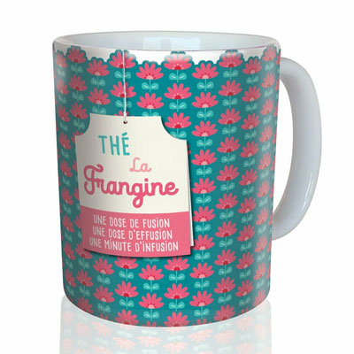 """<FONT size=""""5pt"""">Mug """"La frangine"""" - <B>12,00 €</B> </FONT>"""