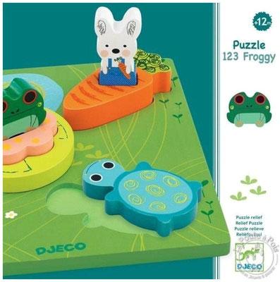 """<FONT size=""""5pt"""">Puzzle 1,2,3 Froggy - <B>19,00 €</B> </FONT>"""