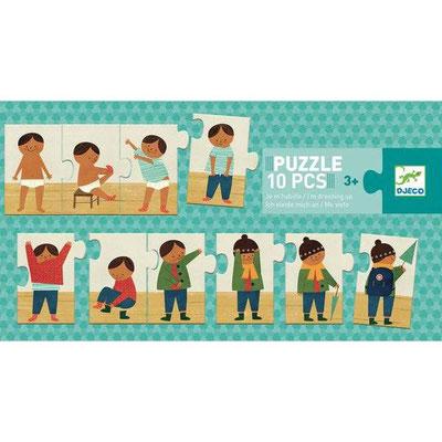 """<FONT size=""""5pt"""">Puzzle trio Je m'habille - <B>8,50 €</B> </FONT>"""