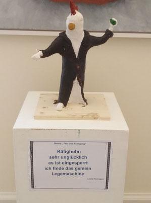 """Bild: """"Käfighuhn"""" von HERWAGEN Lovis"""